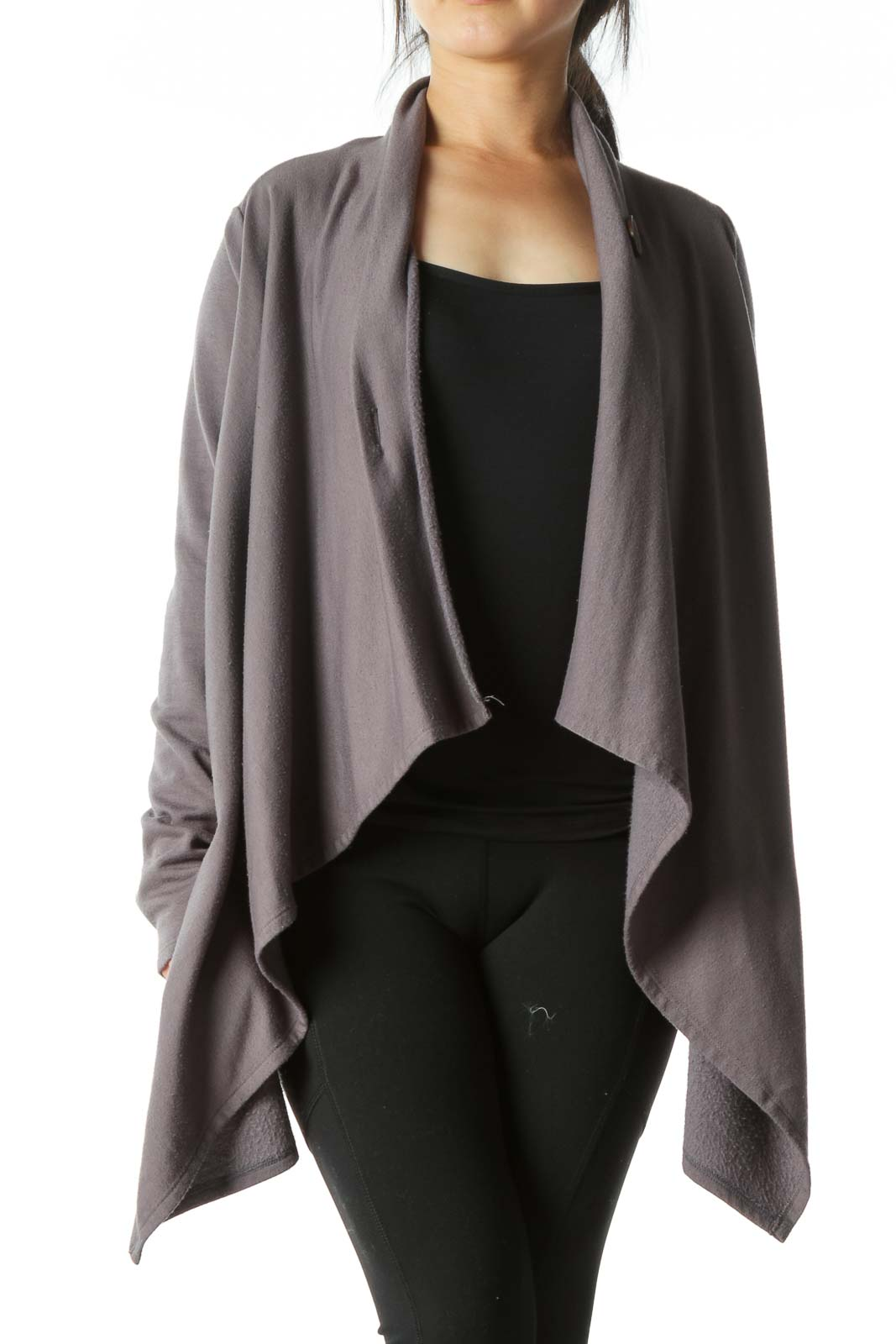 Gray Poncho Loose Jacket  Front
