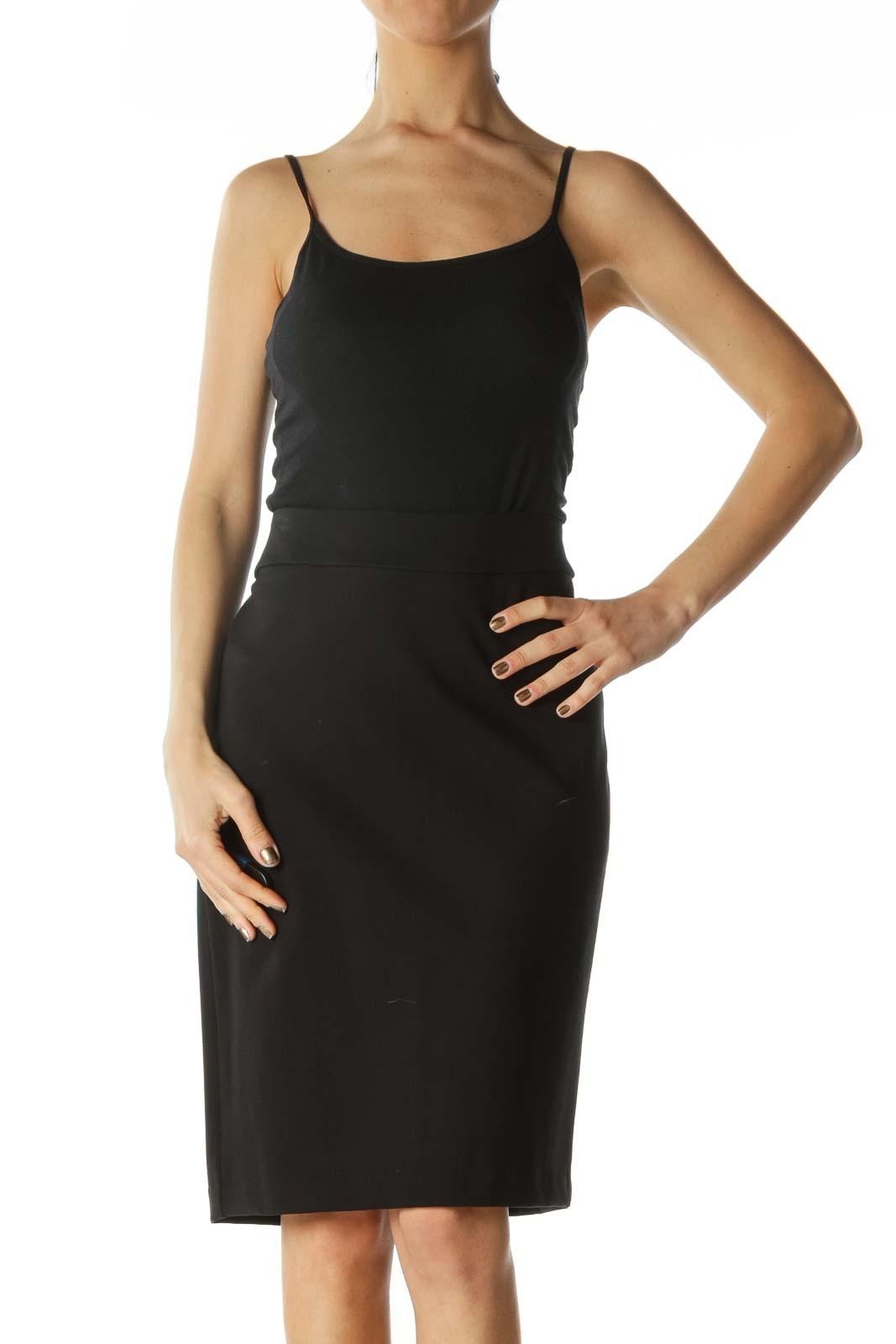Black Tube Skirt  Front