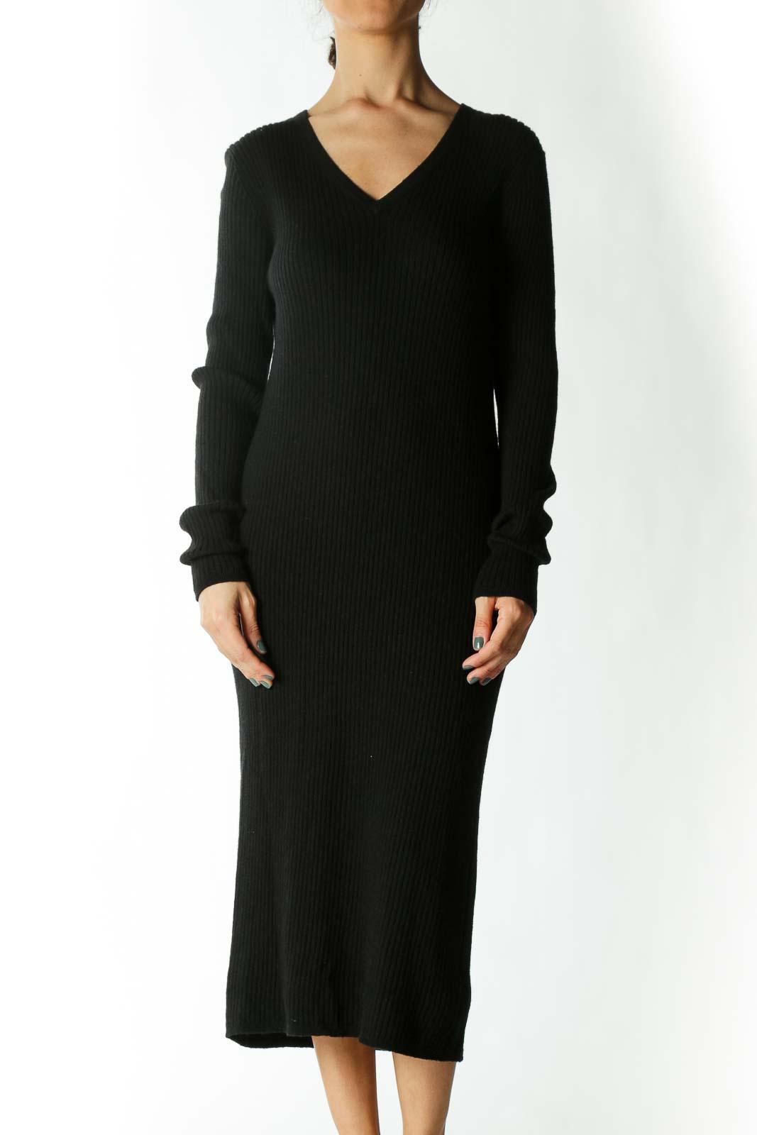 Black Knit Dress  Front