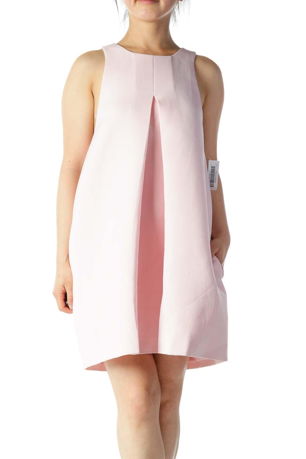 Pink Shift Work Dress Front