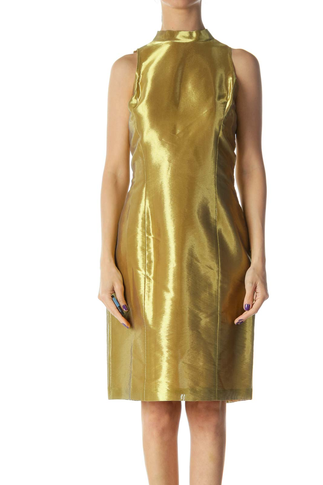 Gold Tent Dress Front