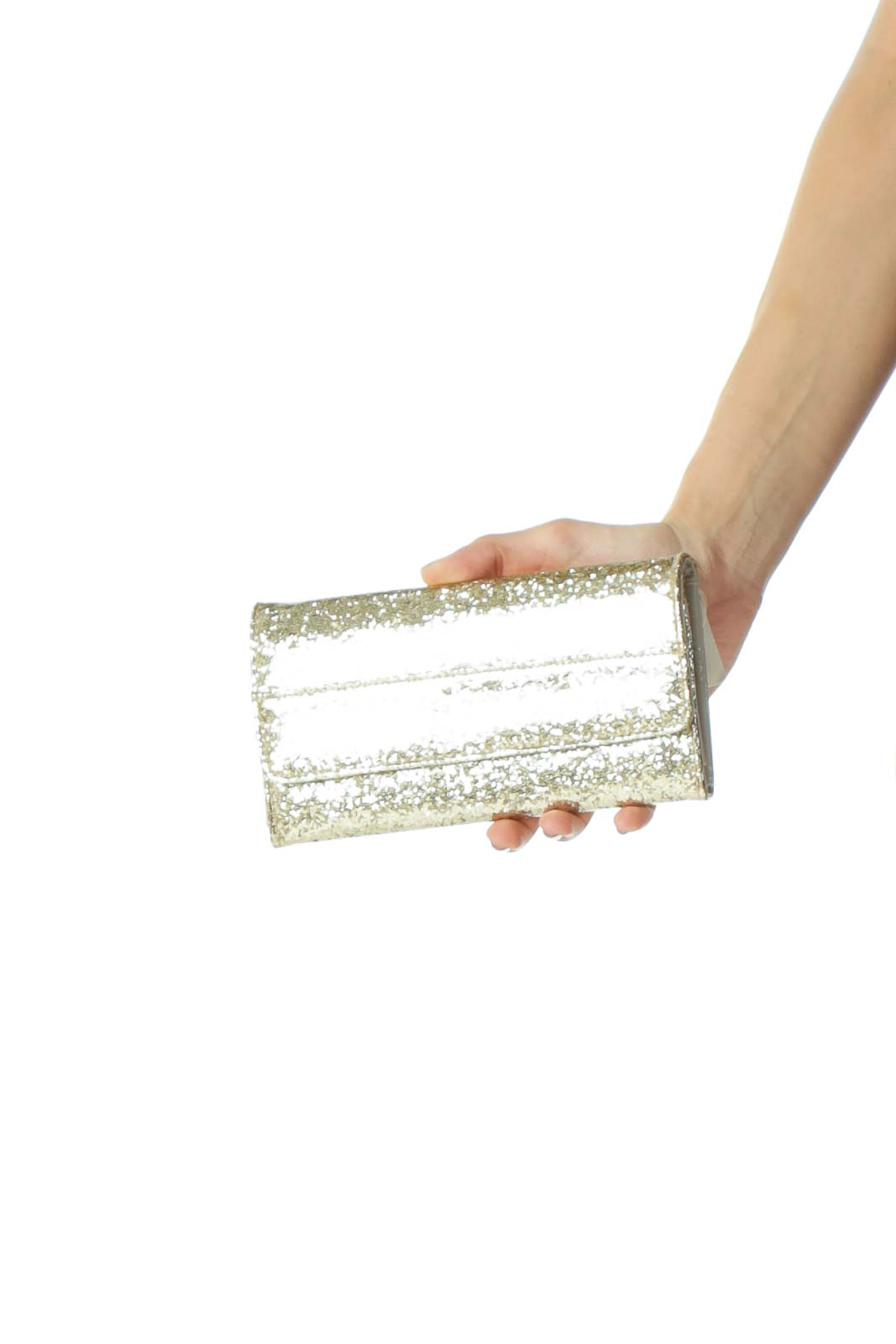 Gold Glitter Snap-Closure Wallet Front