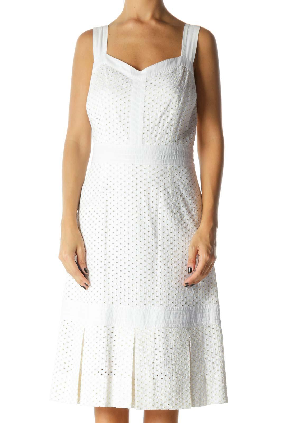 White Eyelet Designer Sundress Front