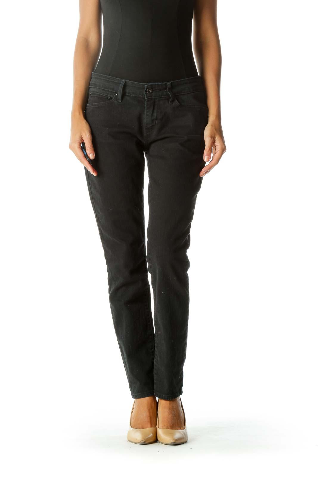 Black Skinny Jean Front