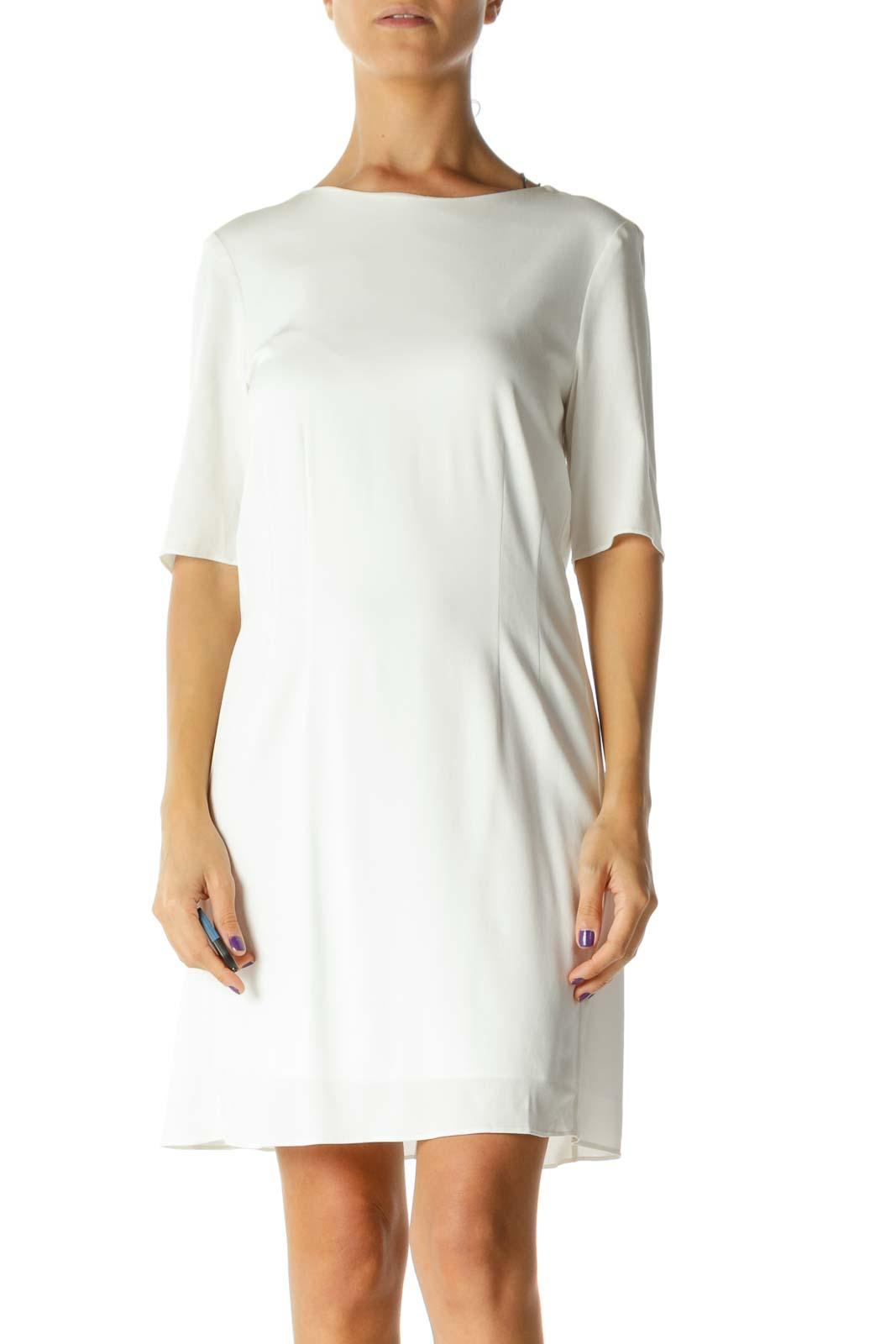 Cream Sheath Dress Front