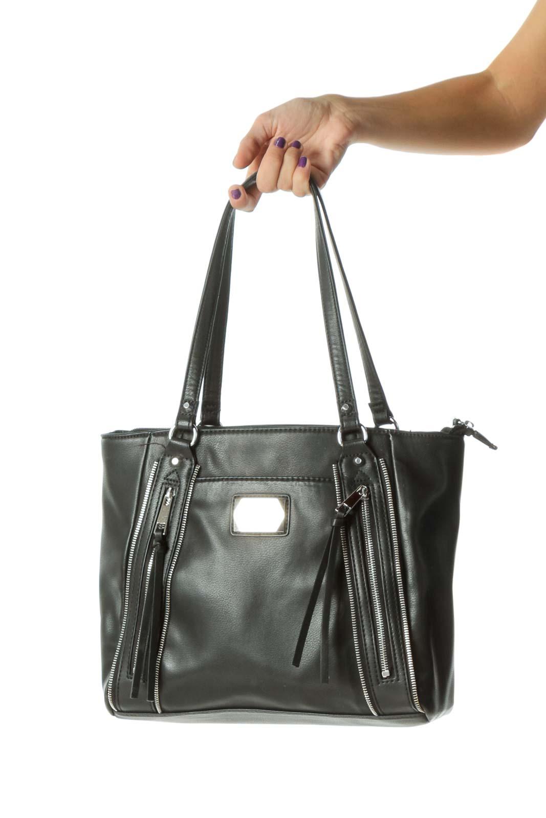 Black&Pink Zip Shoulder Bag Front