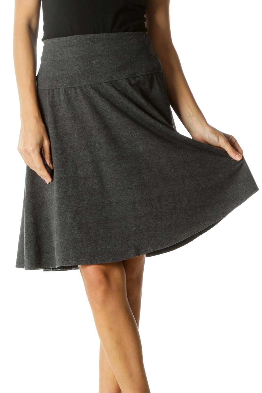 Gray Circle Skirt Front