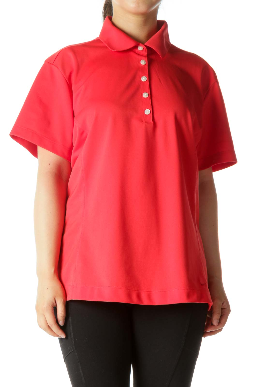 Pink Golf Polo Front
