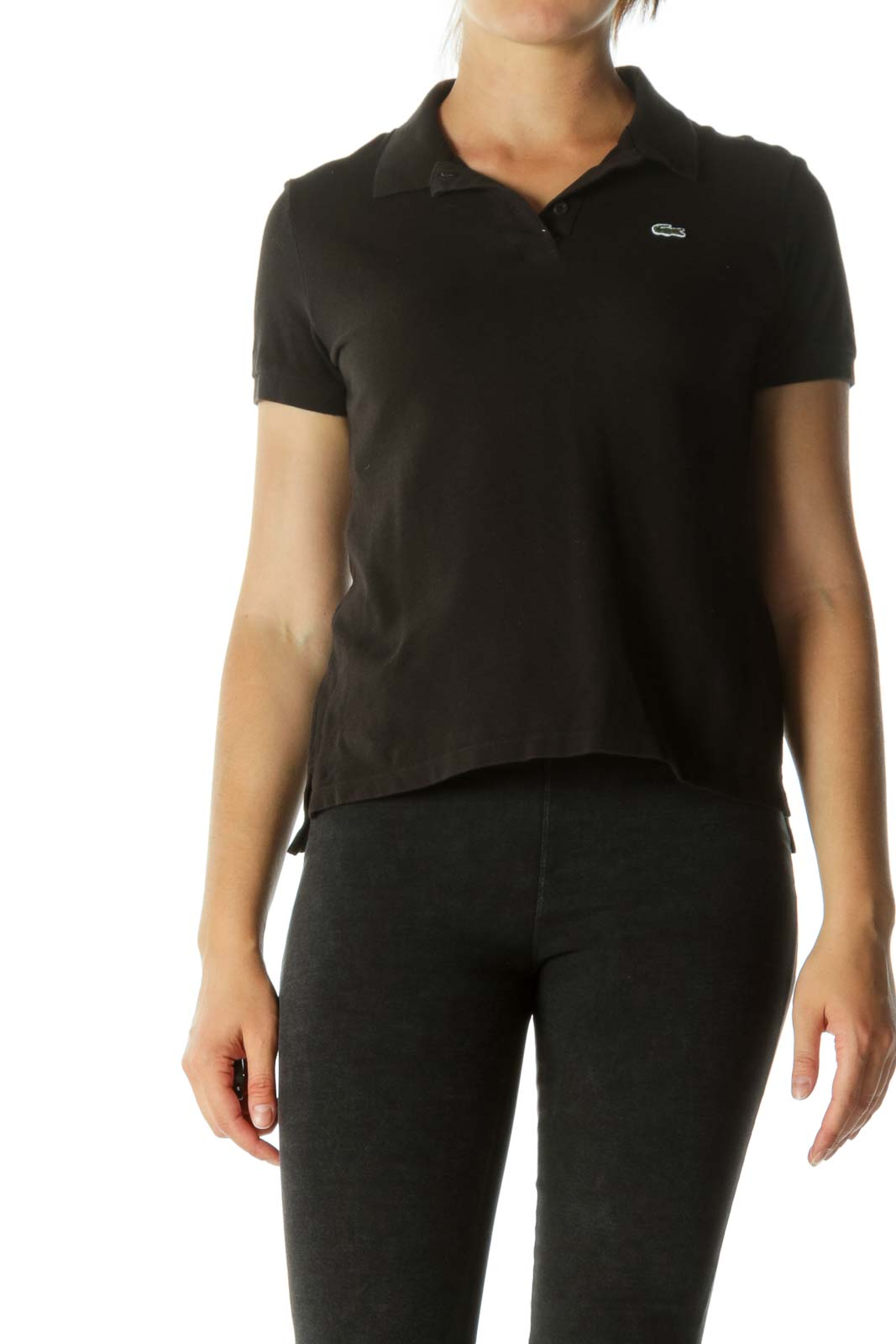 Black Polo Shirt Front