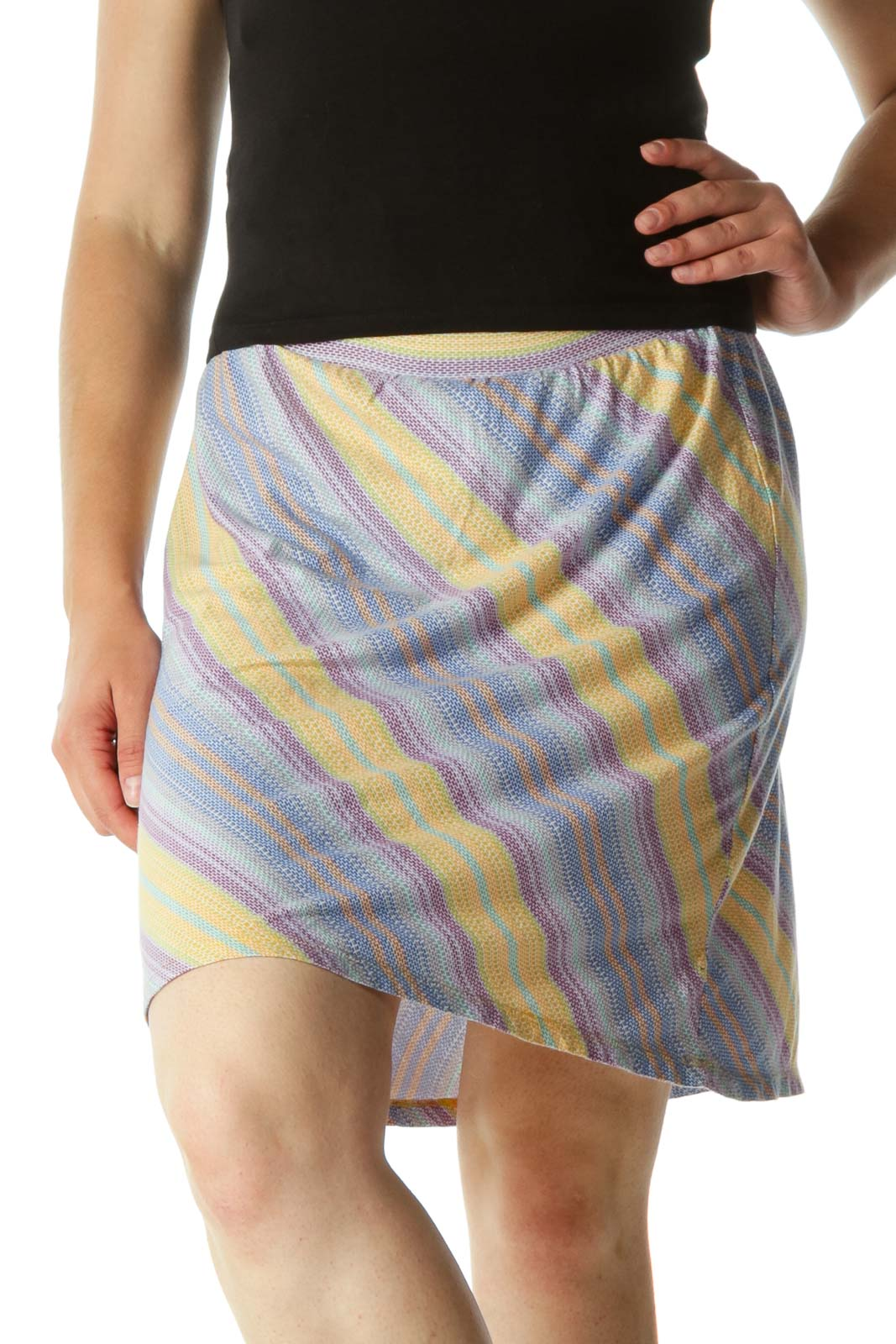 Multicolor Pattern Strech Skirt Front