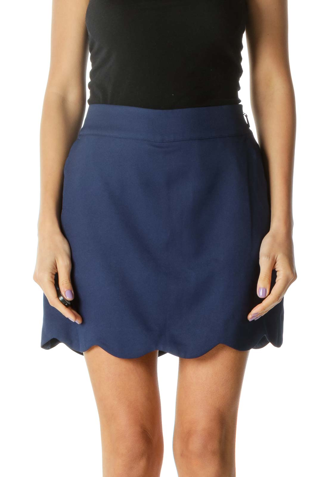 Navy Tennis Skirt with Shorts Front