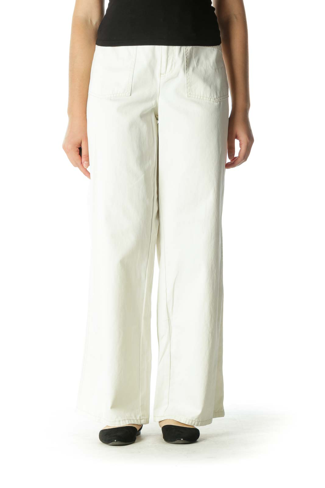 Off-White Wide Leg Pants Front