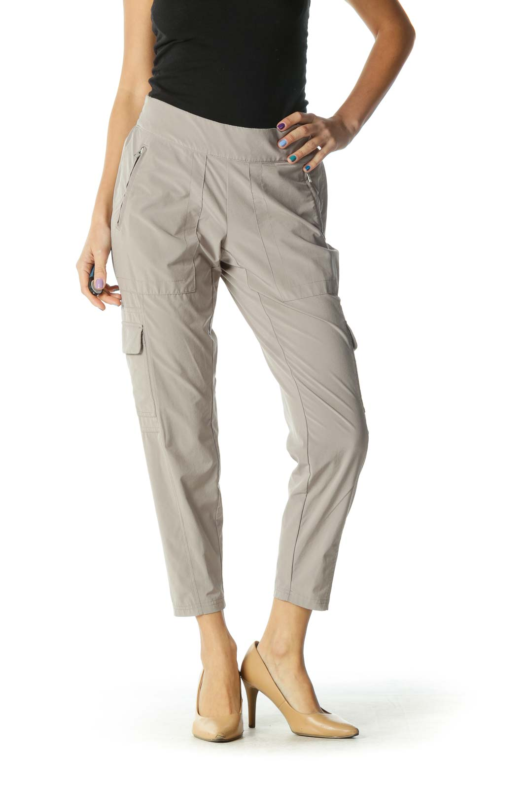 Brown Cargo Pants Front