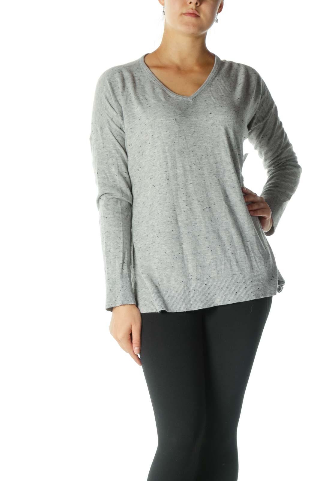 Gray Speckled Sweatshirt Front