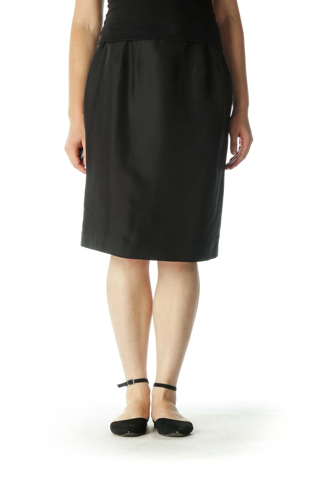 Black Pencil Skirt Front
