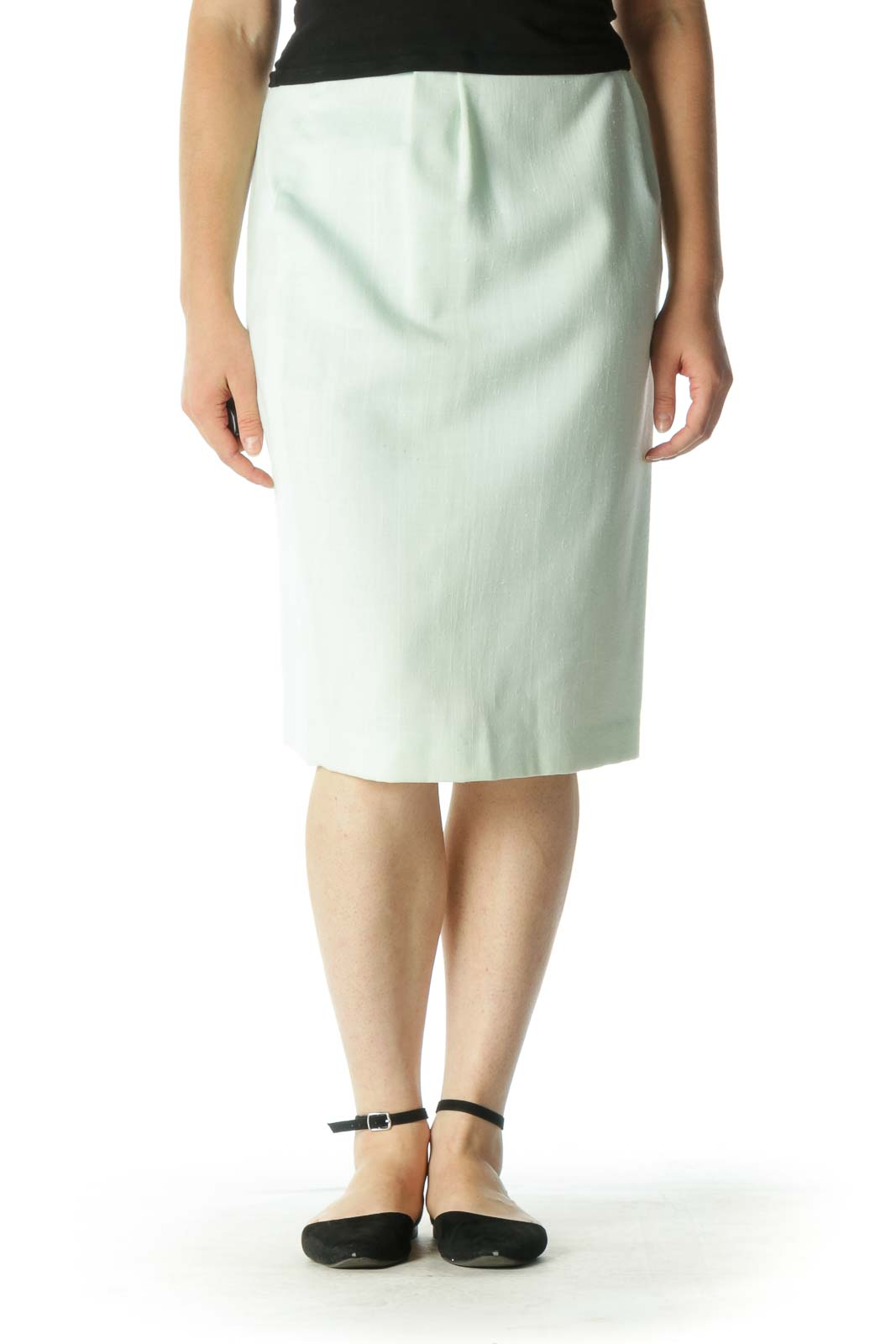 Mint Flared Skirt Front