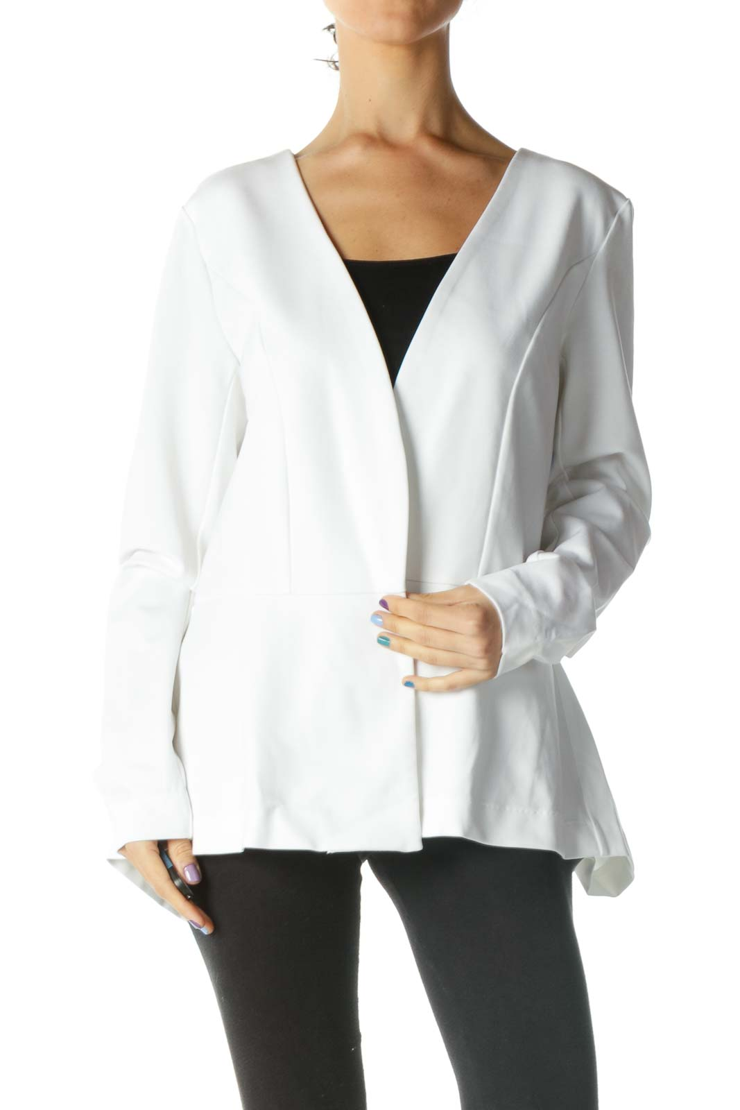 White Jacket with Back Bow Front