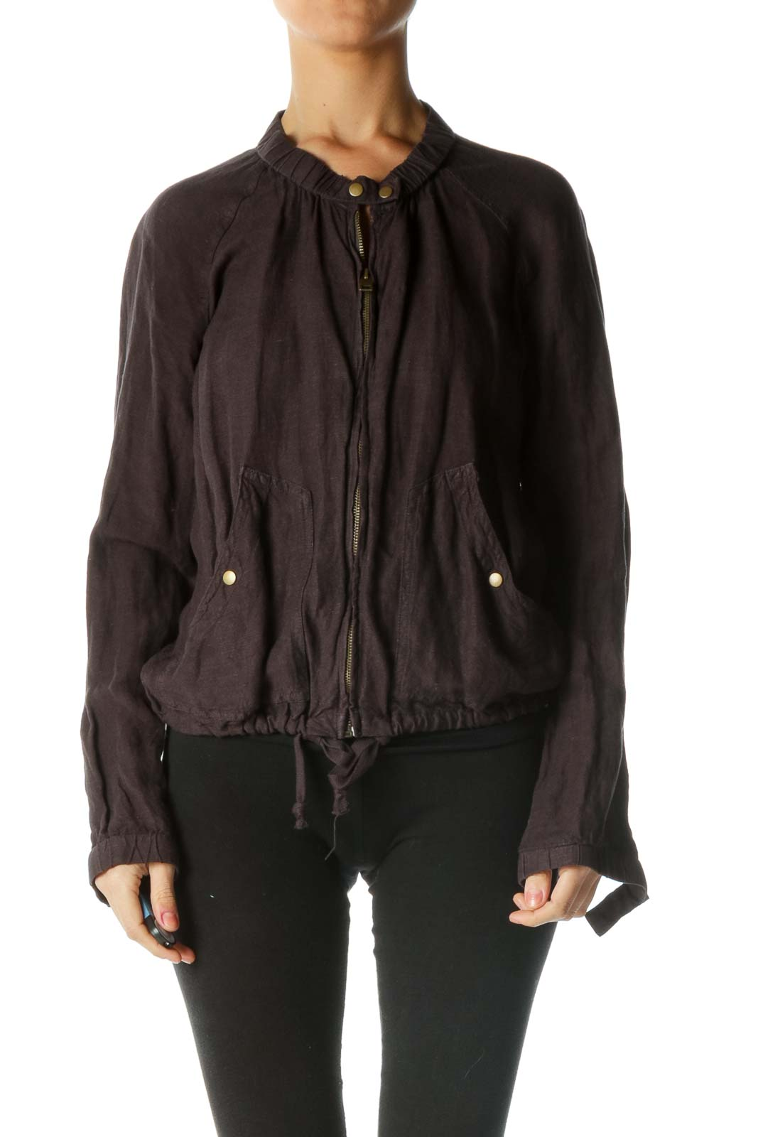 Black Fitted Jacket Front
