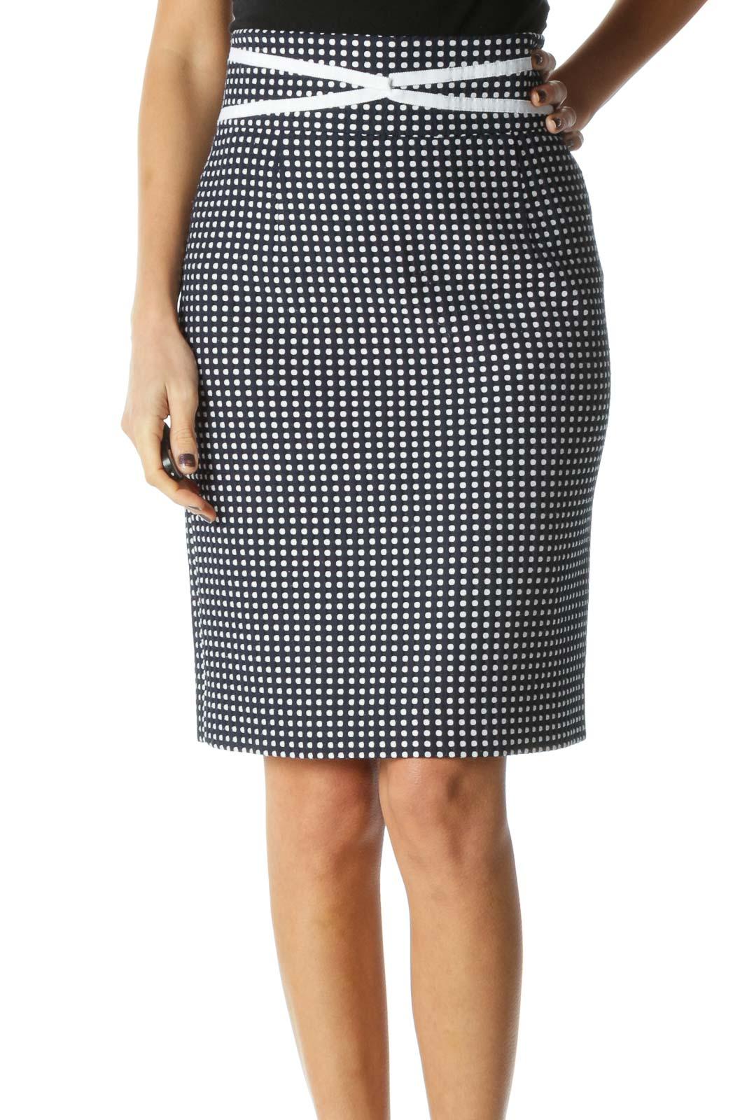 Black Brunch Straight Skirts Front