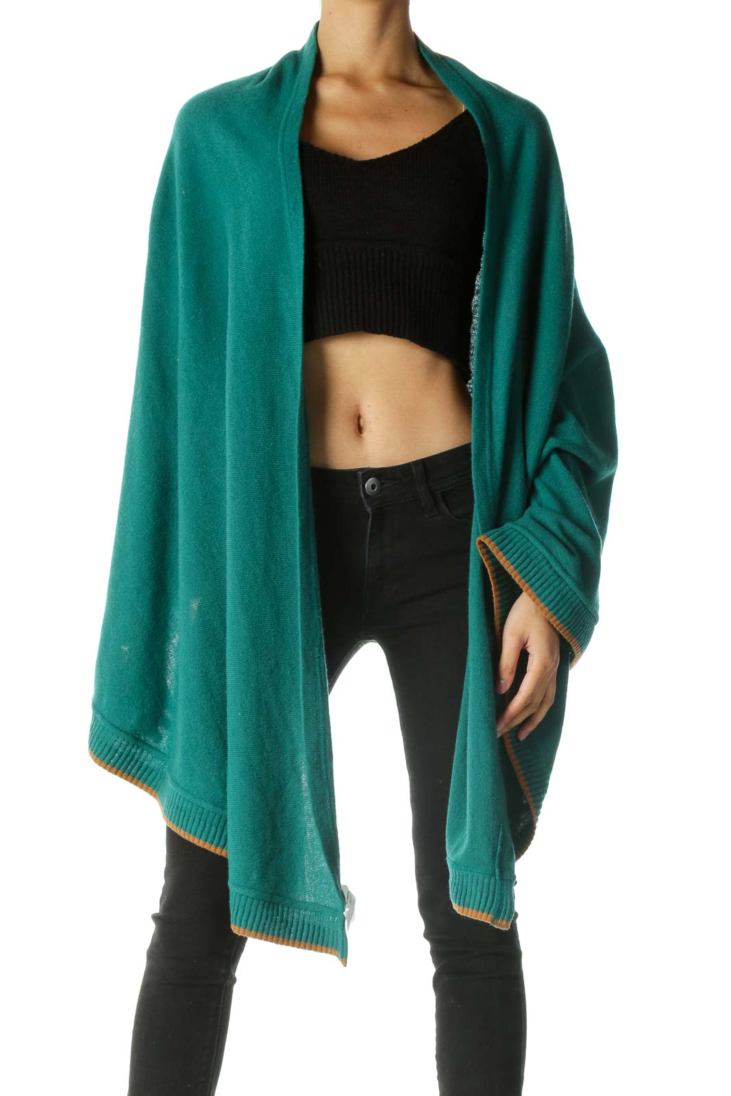 Brown and Green Wrap Front