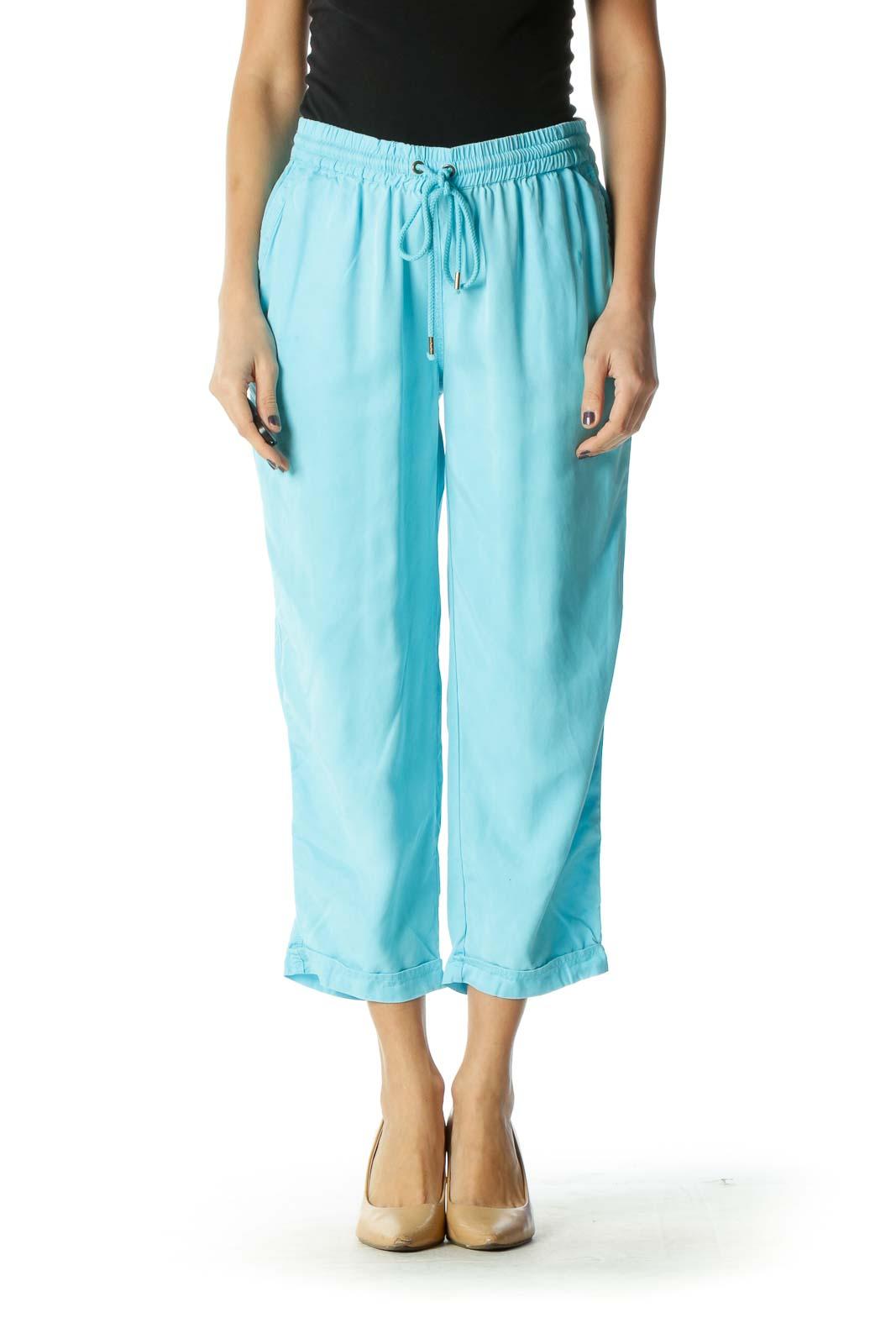 Blue Casual SweatPant Pant Front