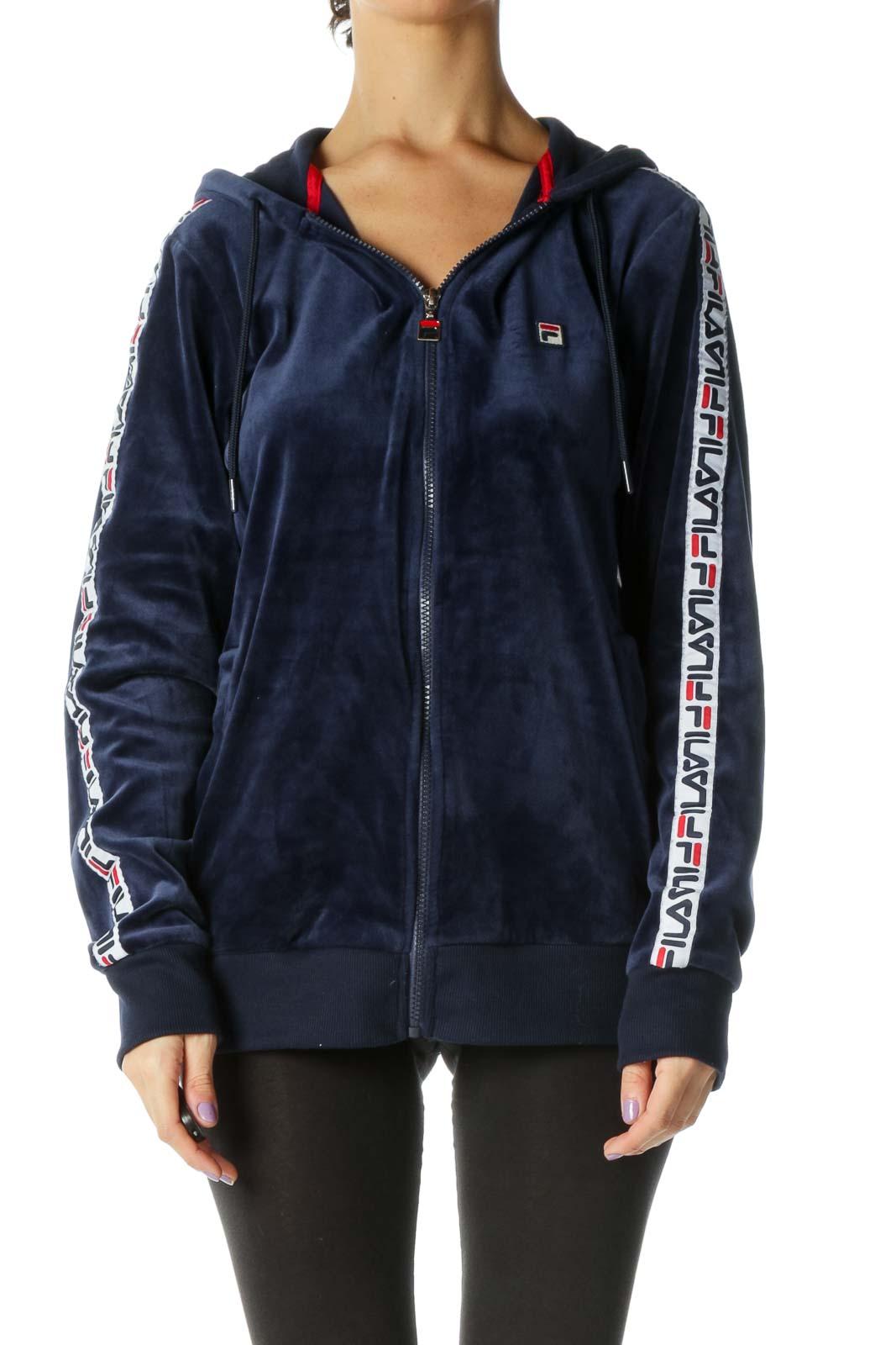 Blue Velour Jacket Front