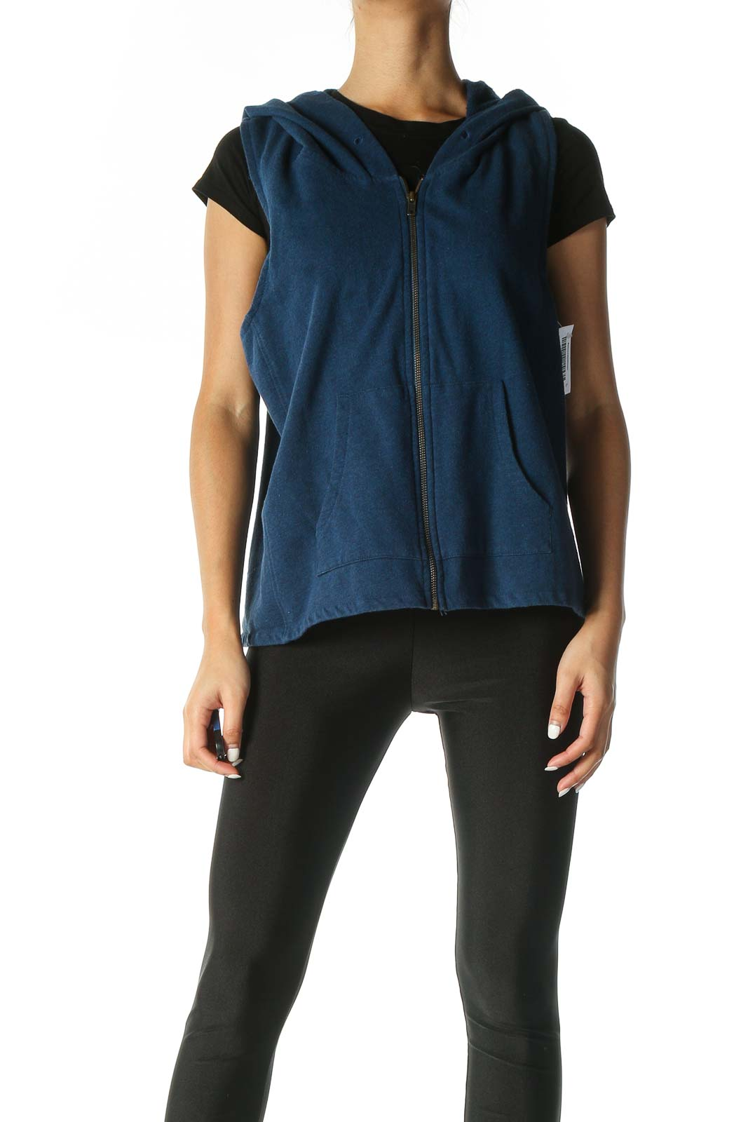 Blue Sleeveless Sweatshirts Front
