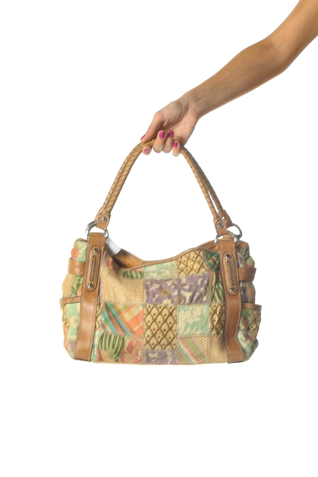 Beige Shoulder Bag Front