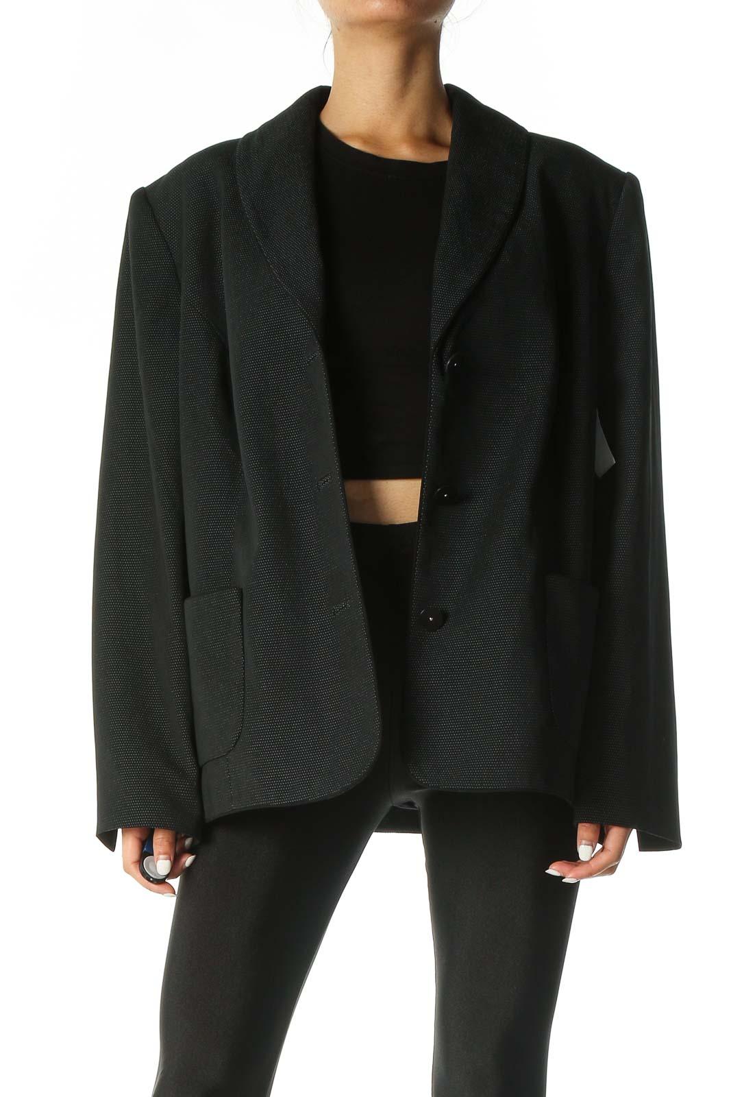 Black Long Sleeve Blazer Front