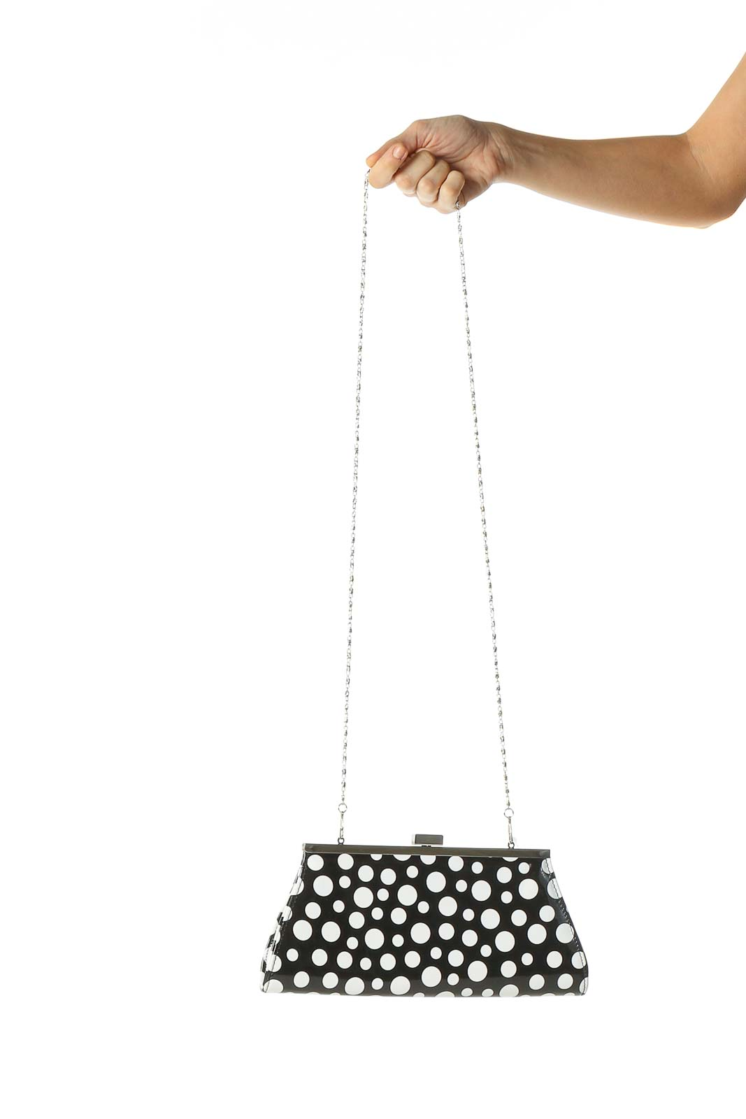 White Clutch Bag Front