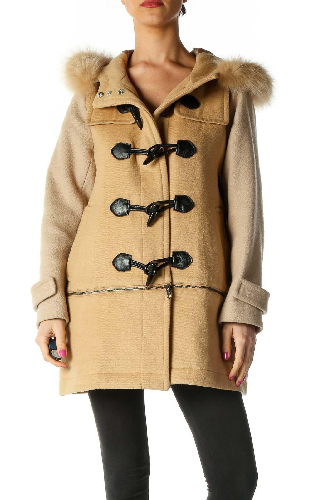 Brown Duffel Coat Front