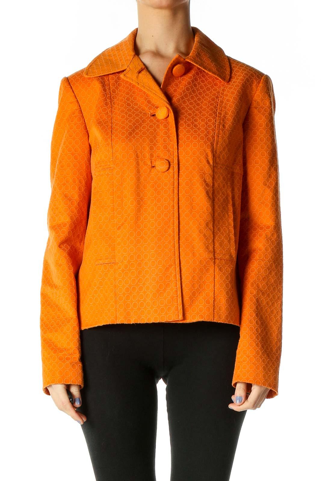 Orange Windbreaker Jacket Front