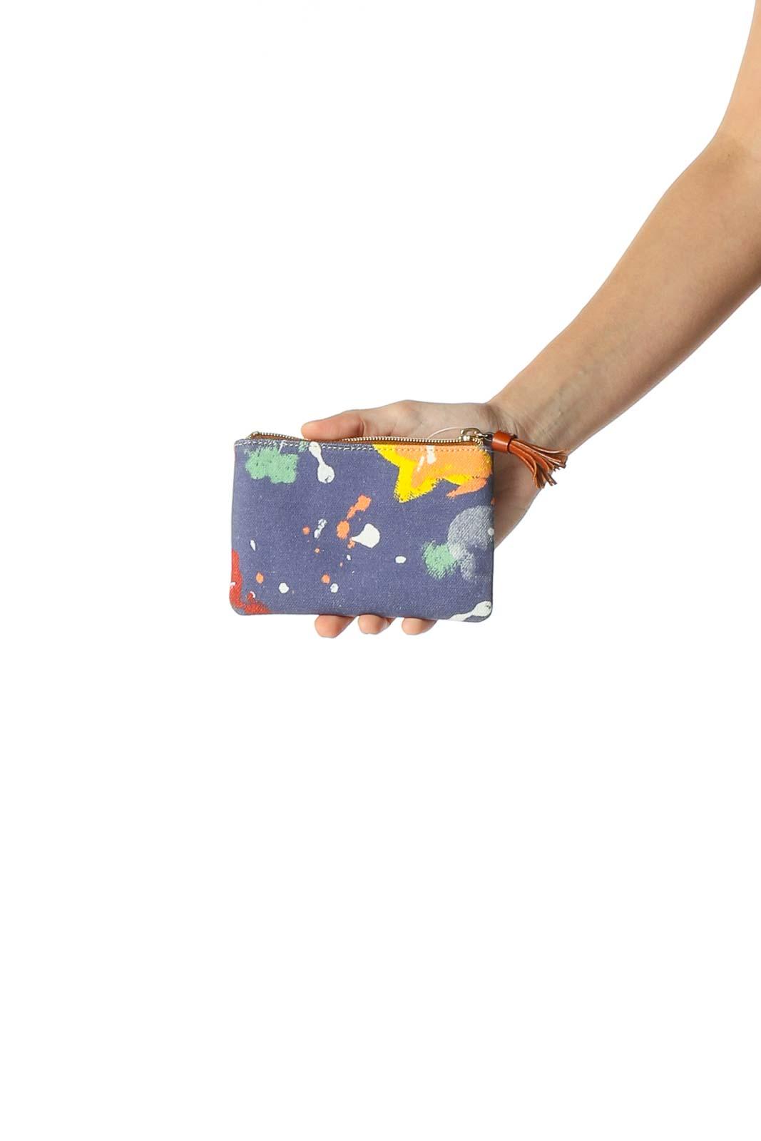 Multicolor Print Zipper Bag Front
