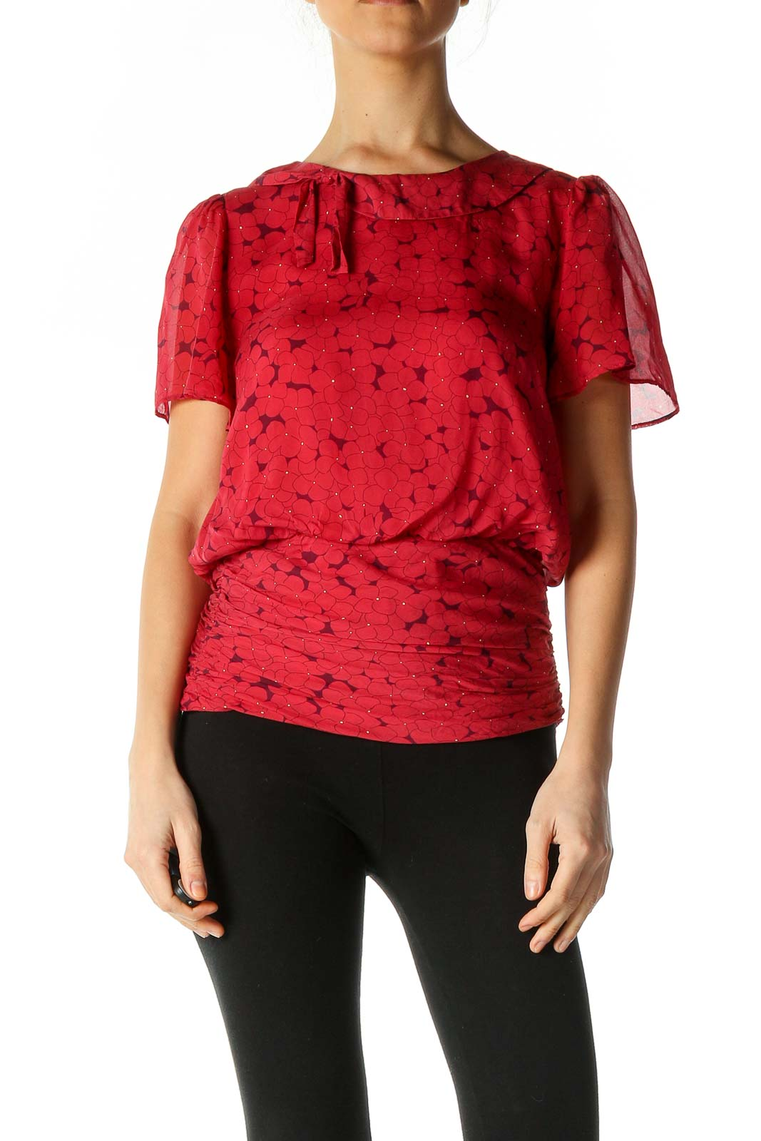 Red Blouse Front