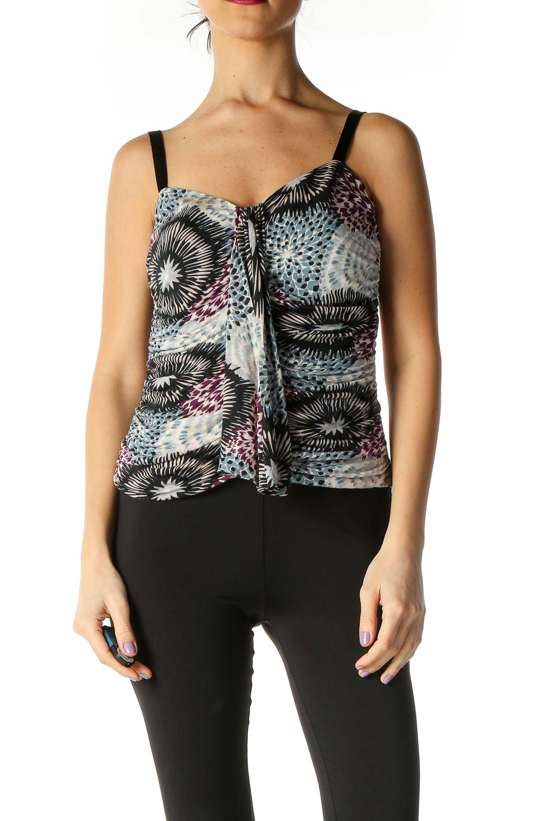Black Holiday Tank Top Front