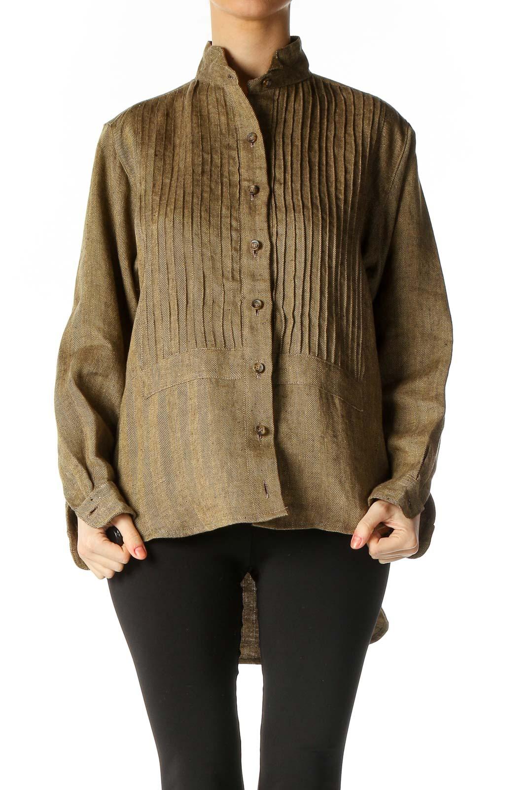 Brown Texture Shirt Front