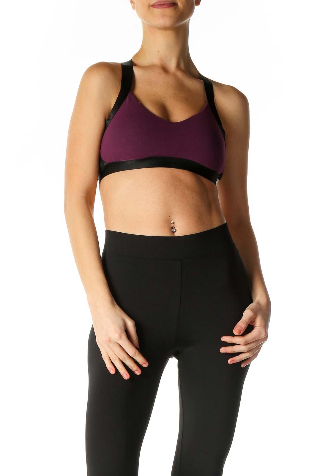 Purple Active Bra Front