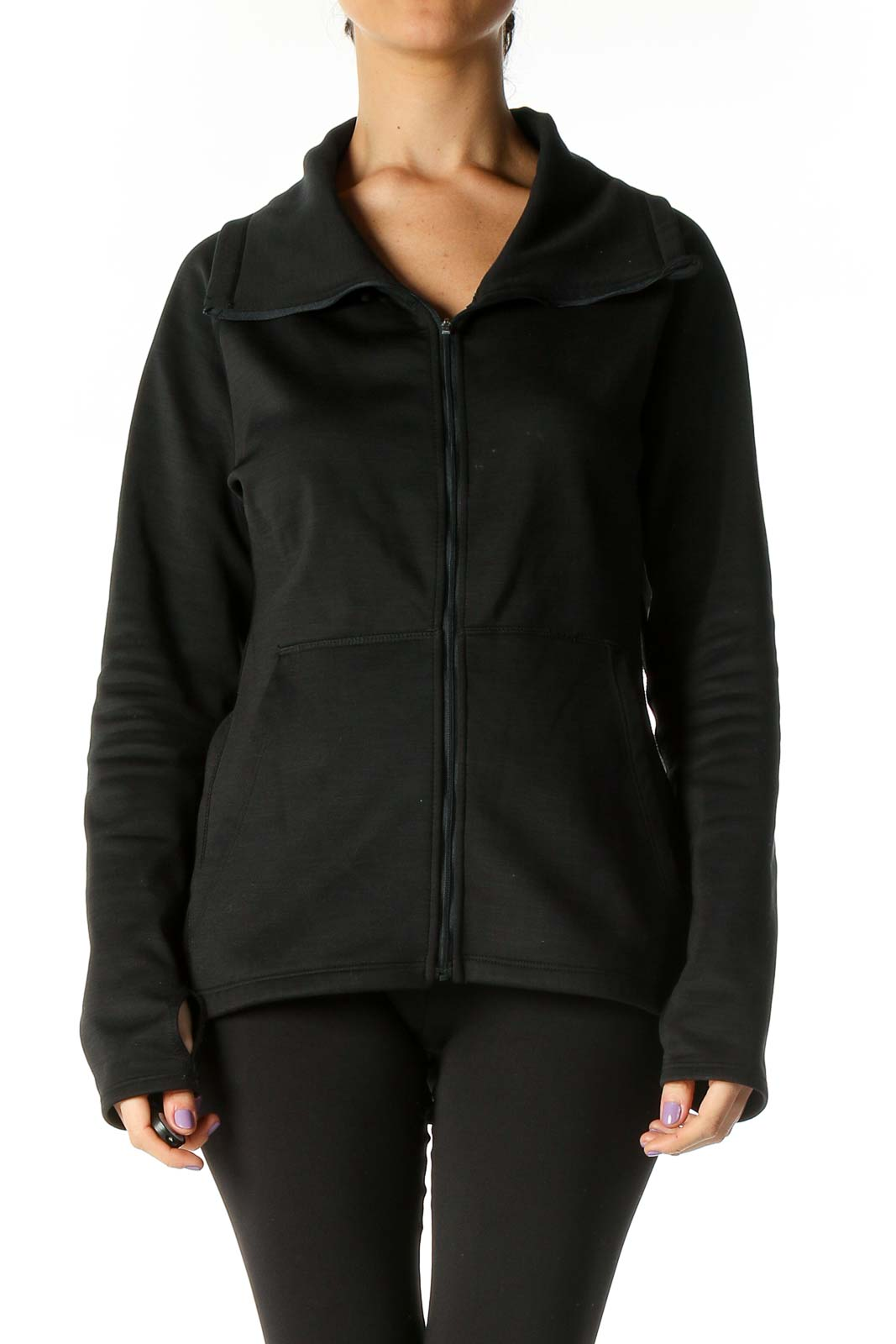 Black Active Jacket Front