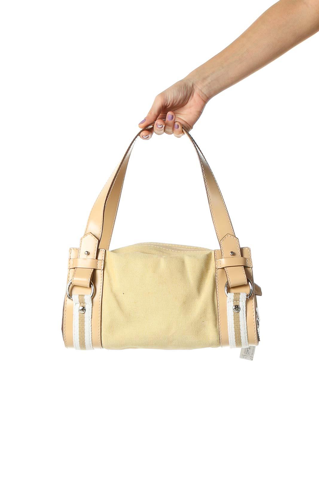 Beige Shoulder Bag Front
