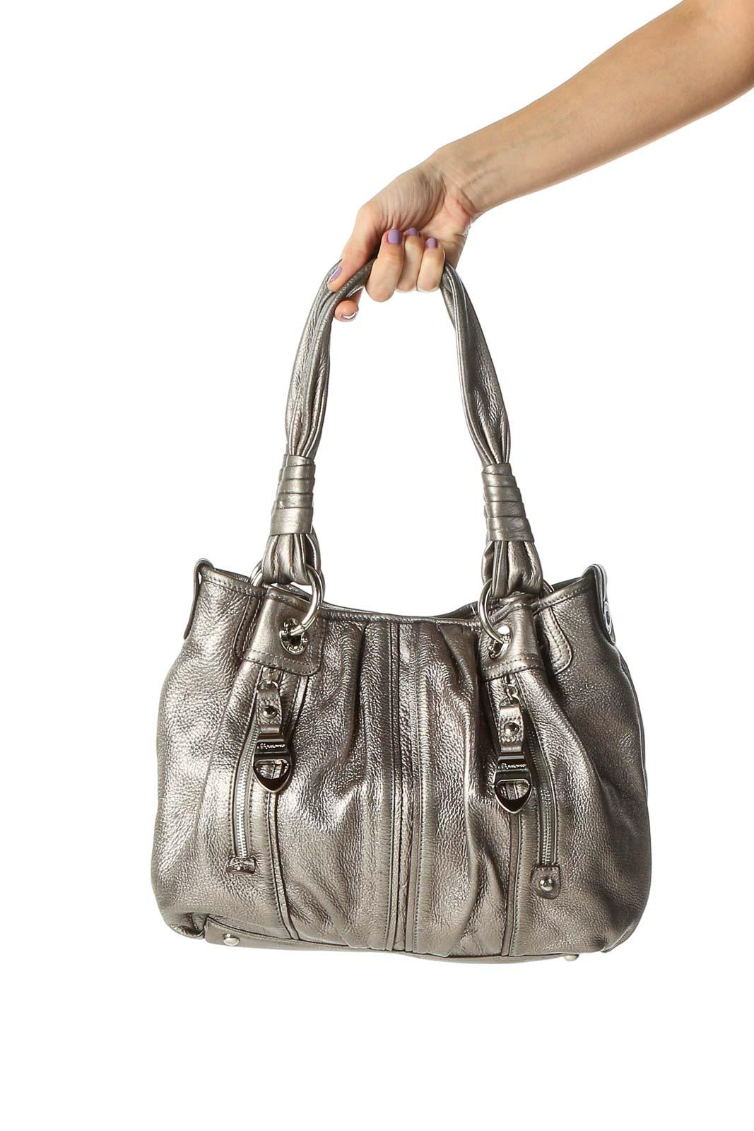 Silver Shoulder Bag Front