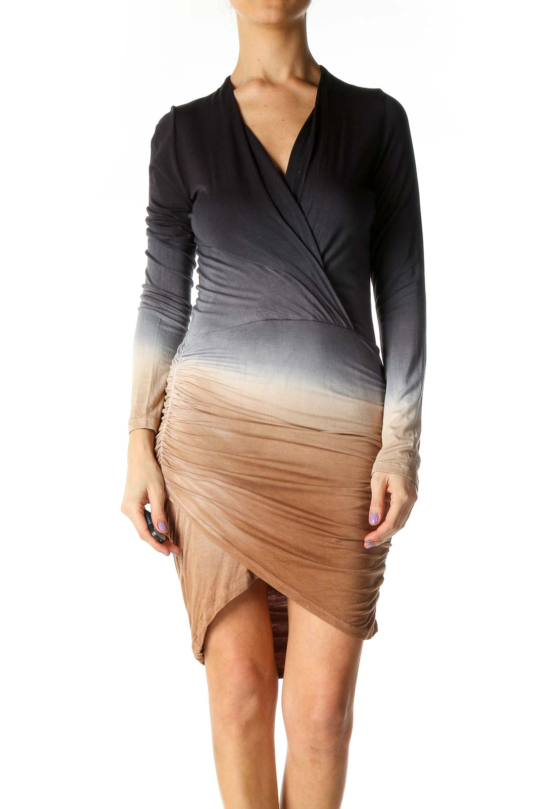 Black Ombre Dress Front