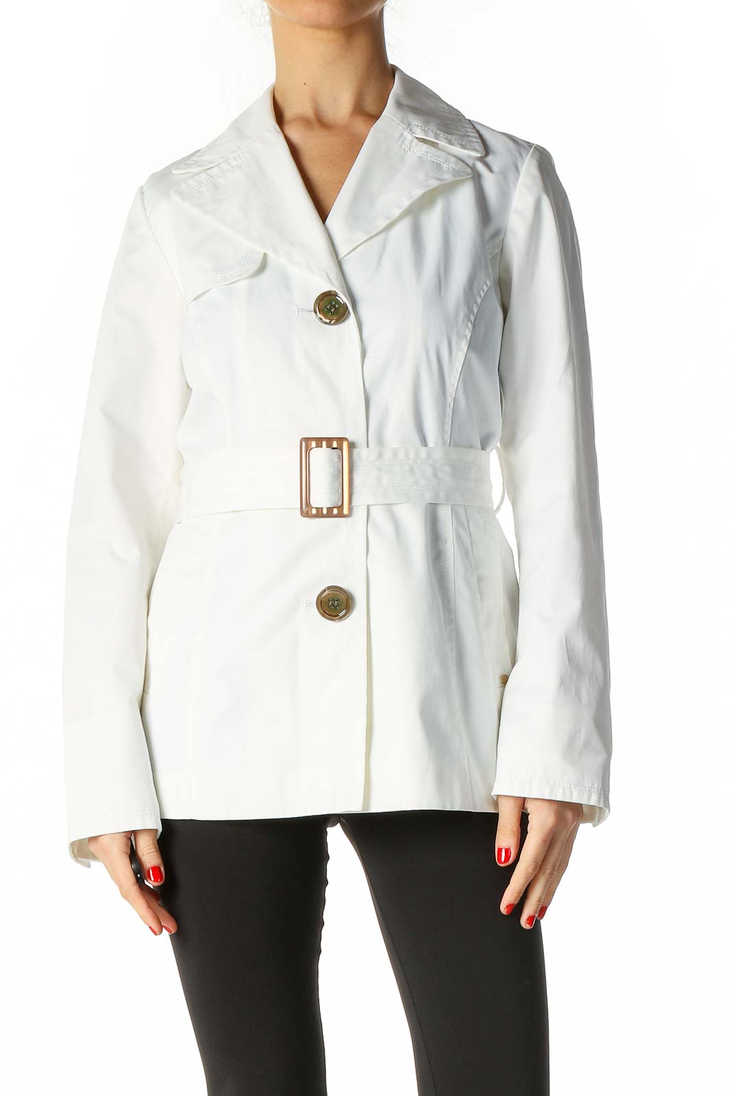 White Duffel Coat Front