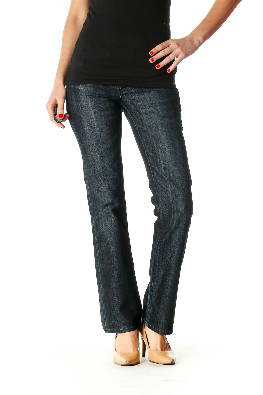 Blue Casual Jeans Front