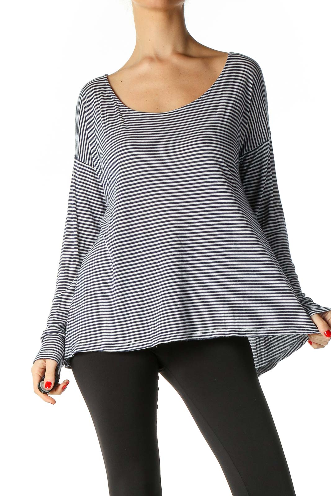 Blue Striped T-Shirt Front