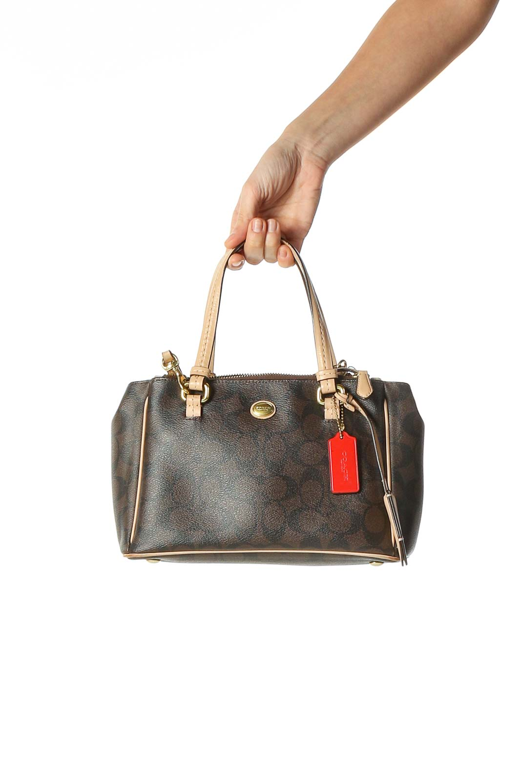 Brown Leather Satchel Front