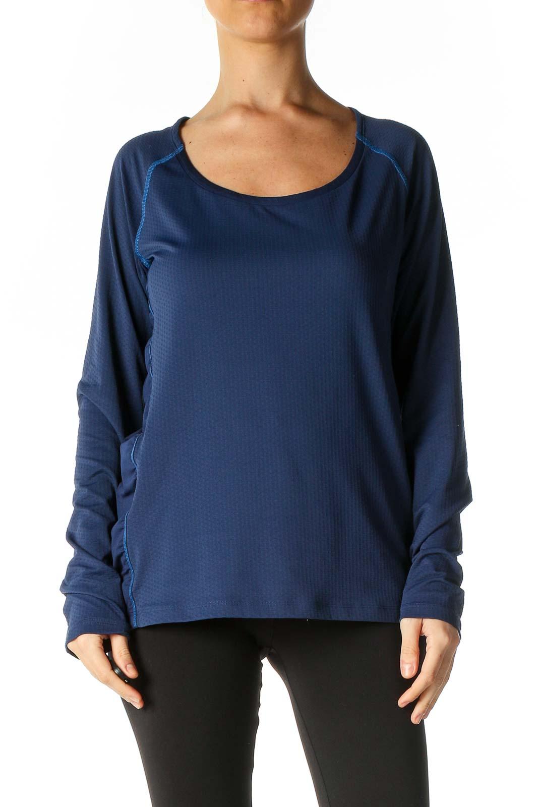 Blue Activewear Top Front