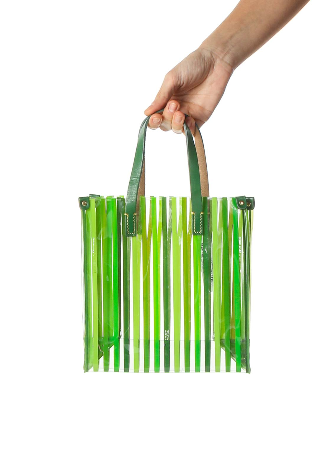 Green Transparent Holiday Tote Front