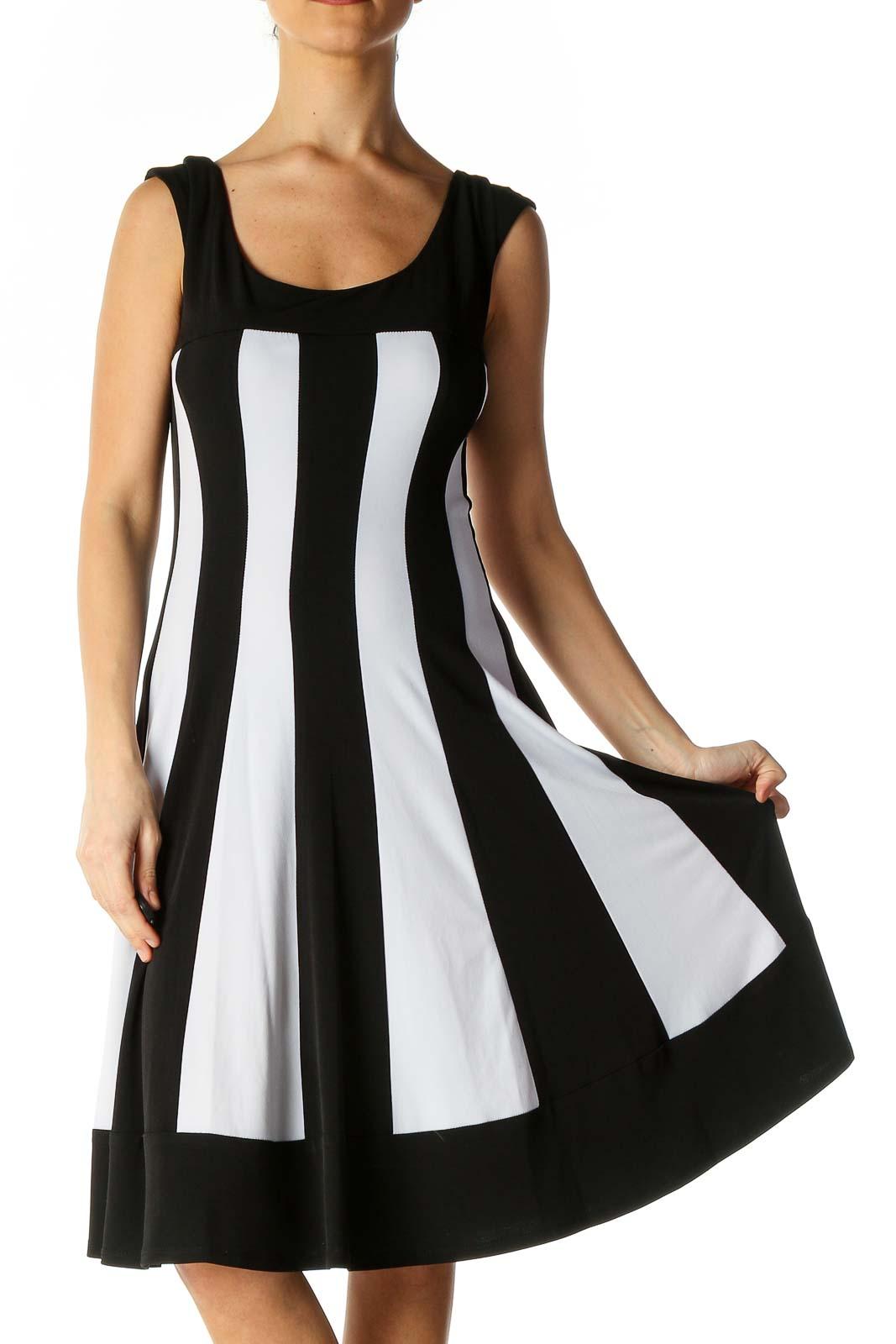 Black A-Line Dress Front