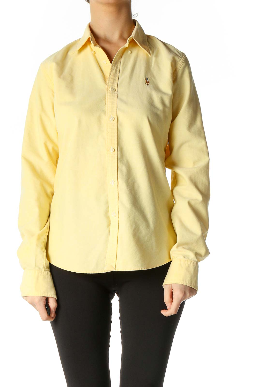 Yellow Solid All Day Wear Shirt Front