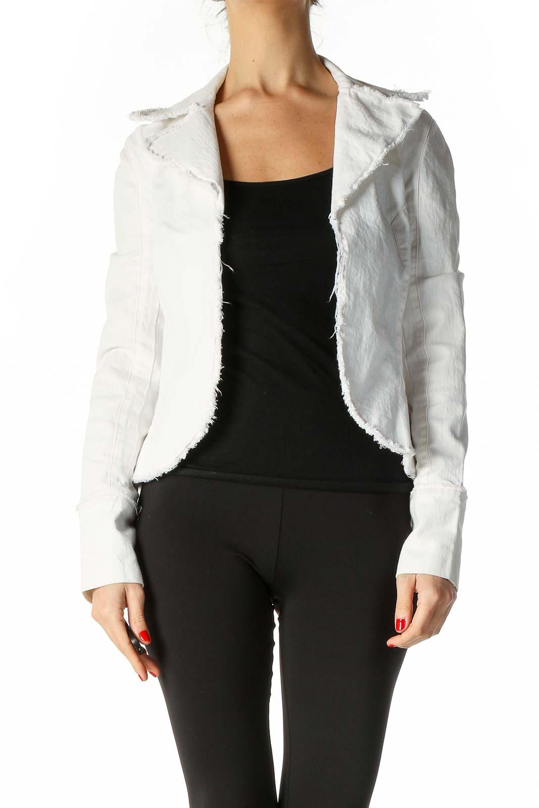 White Denim Jacket Front